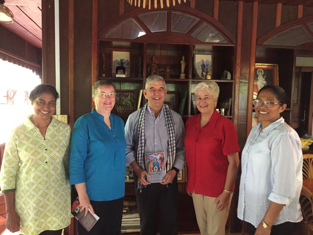 Bishop Kike Figerado, Julie, Preethi, Lizzy and Anne. October 2017