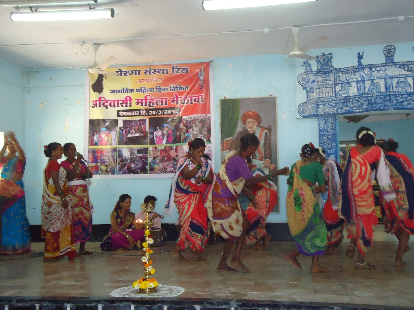 Womens day celebration for the Tribal women from 15 Kathkari villages, Rees