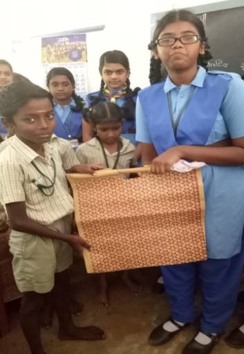 Use Jute bags and reduce plastic bags is a call to save nature. Awareness given by our students to the children of St. Teresa Primary School, Perambur.