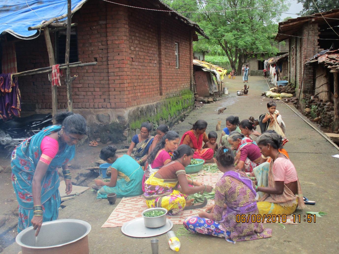 Herbal medicine prepared by the Tribal women, Rees
