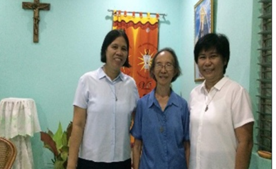 Srs Victoria Embate (Leader), Aquila Sy and Joy Puerta.