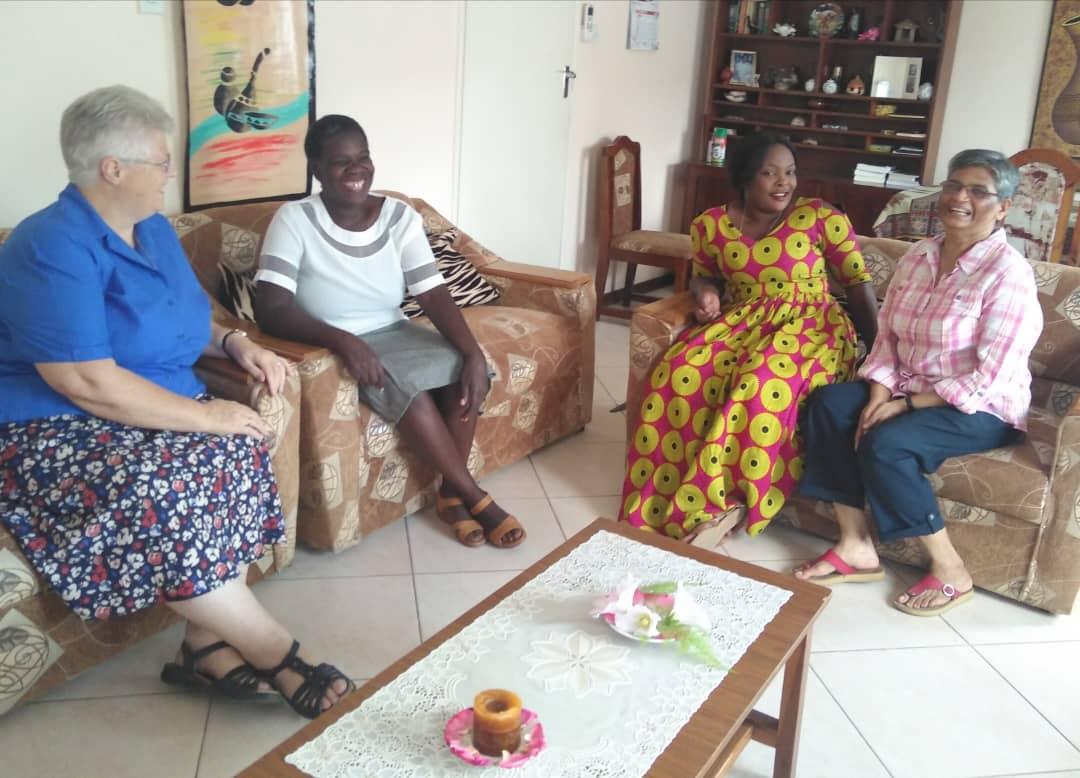 Hospitality ministry, Sr Sheila Sheehy, Catherine Solo, Francine Chileshi, Sr Brigit Mathew