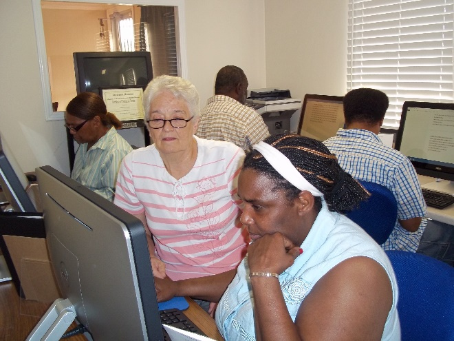 Computer Classes taught weekly by Sister Wiona