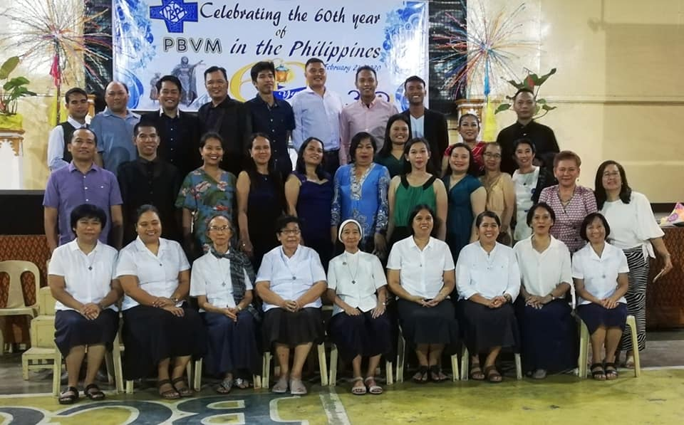 The Sisters with BCC Co-workers during the 60th Foundation Anniversary last February 2020