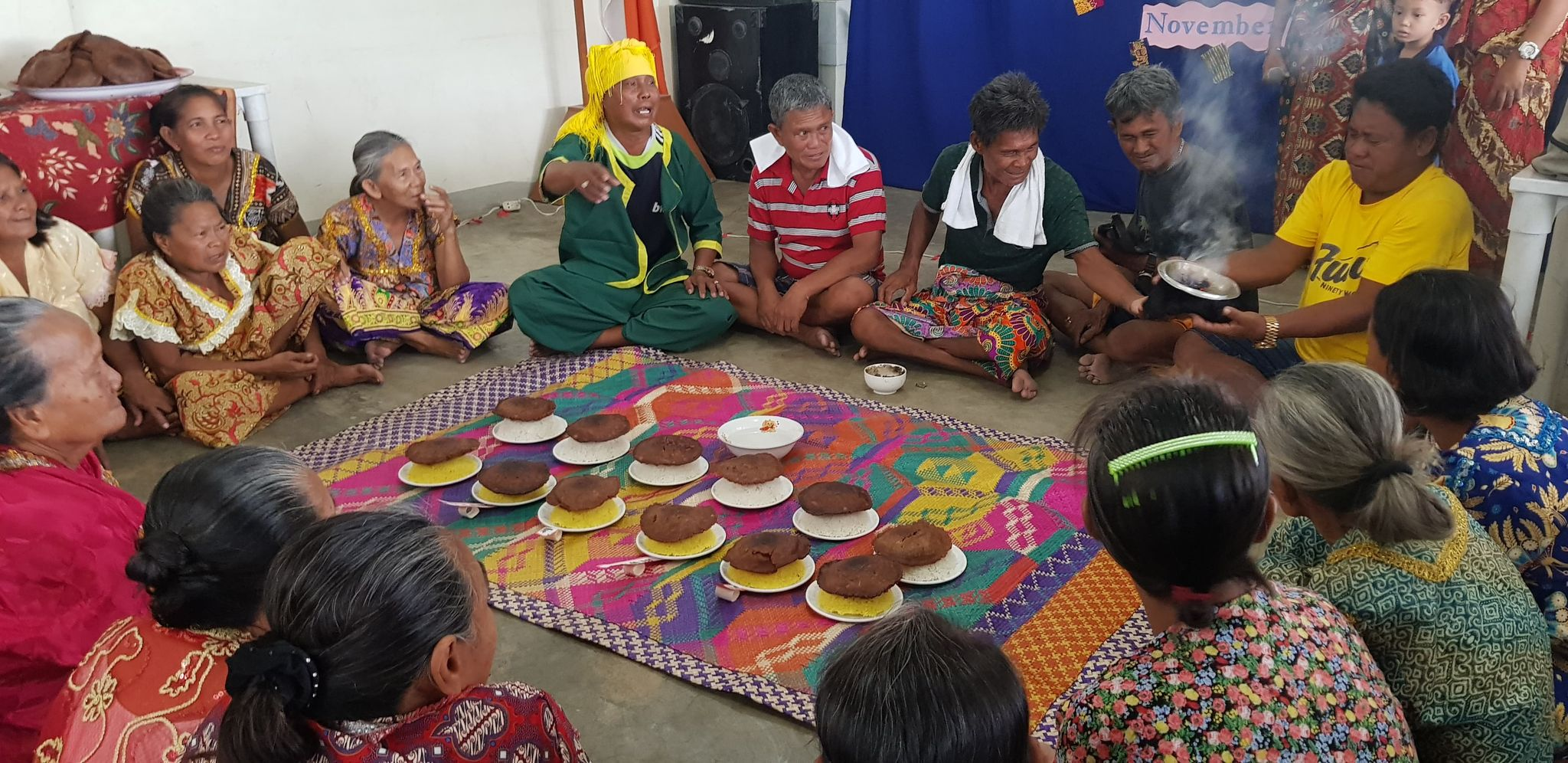 Badjao Tribal Leaders in a ritual during a Tribal Day Celebration