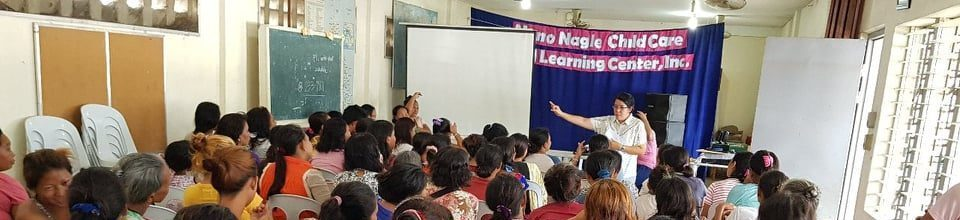 Sr Mildred with the teachers during a Badjao Parents' Meeting