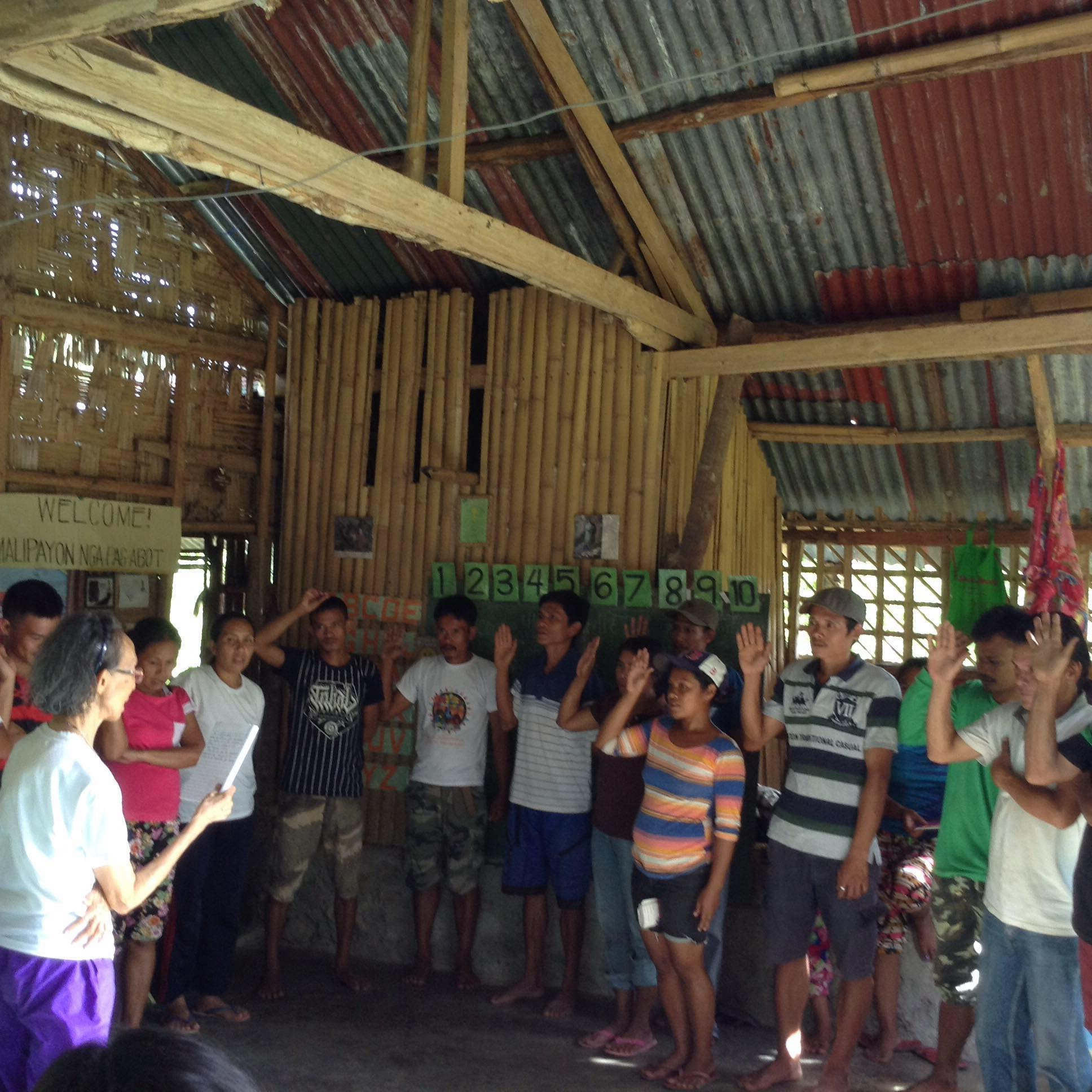 Oath Taking of members in their organisation as landless tillers in the mountain area