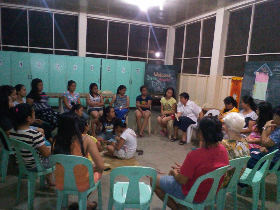 Nagle House dormitorians in one of their regular monthly meetings