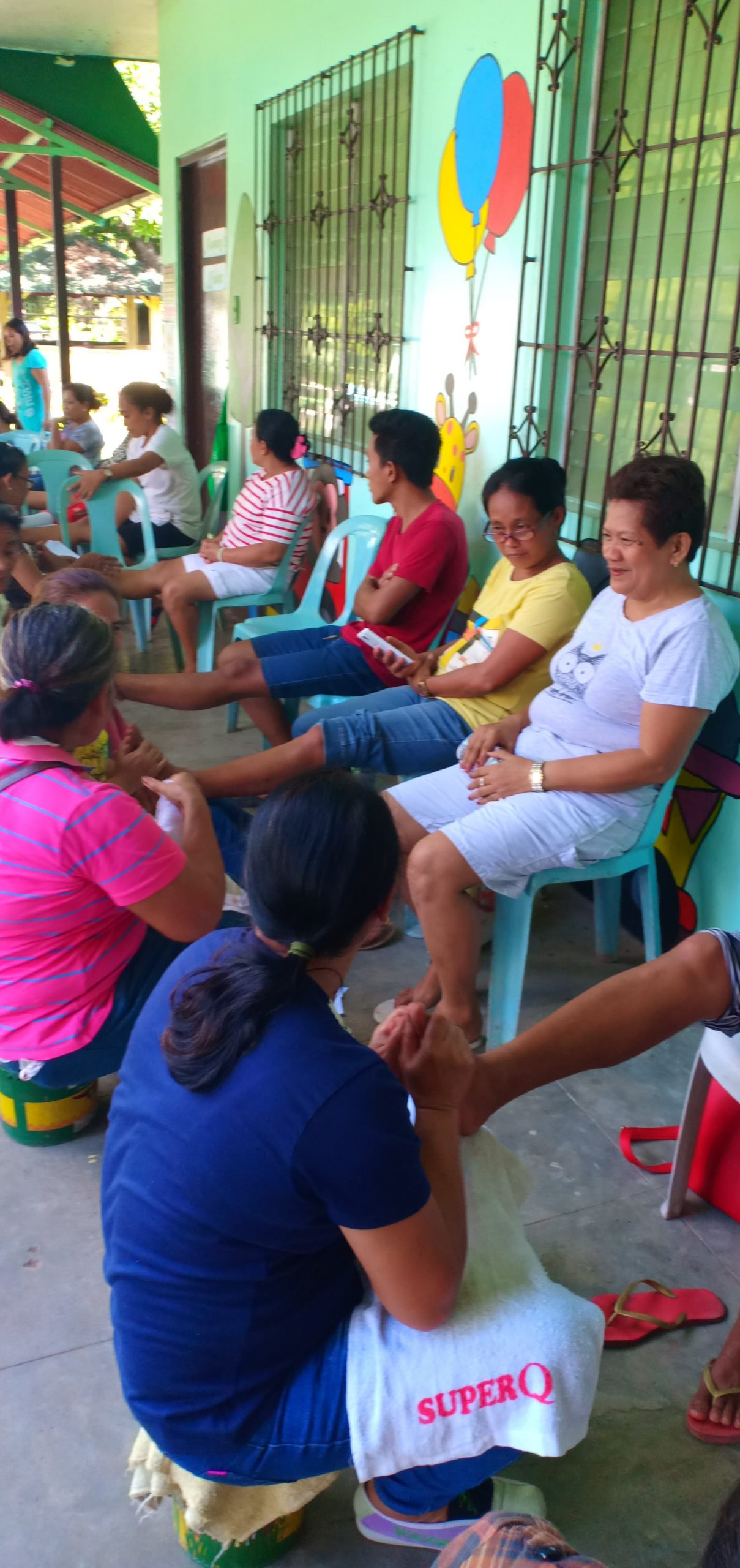 Reflexology training of Center Parents