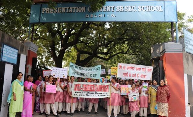 Anti-Cracker Campaign in Presentation Convent Sr Secondary School