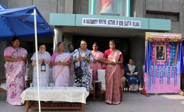 In solidarity with victims of bomb blast in Sri Lanka