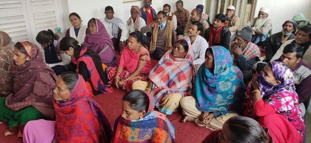 Meeting for housing  for slum dwellers