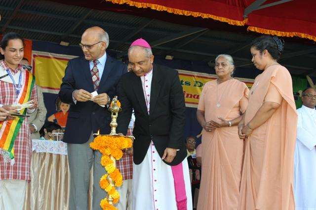Sports day inguration - Bishop of Jammu