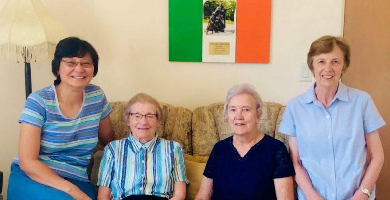 Community photo, September 2020 (L-R: Sisters Jocelyn Quijano, Fidelma Lyne, Sheila Reen, and Mary Kelly)