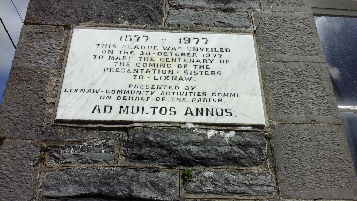 A Wall Plaque unveiled in 1977