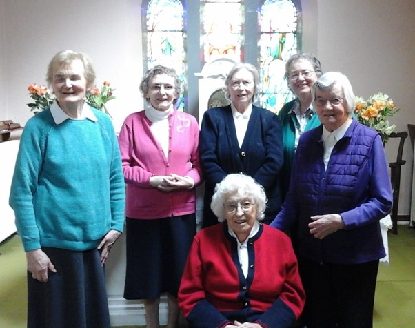 Lixnaw Community - Ailbe is seated in front then from left to right; Dorothy, Mary, Kyran, Úna and Evelyn.